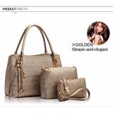 Conjunto De 3 Bolsas Femininas Importadas Elegante 2016