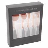 5 Pcs Rosa Escova De Dente De Ouro Oval Pincéis De Maquiagem